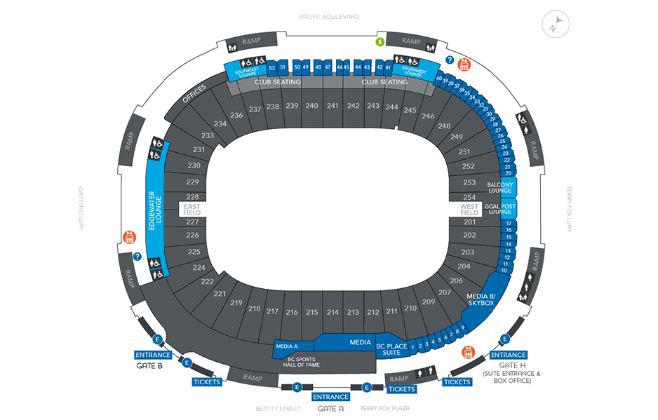 Bc Place Seating Map Stadium map – BC Place Bc Place Seating Map